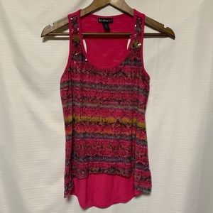 Self Esteem sequin front tank top size small